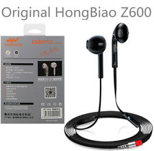 Black HongBiao Z600 3.5mm Good Earbud Earphones Sport Music Earphones with Mic