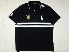POLO RALPH LAUREN Classic Fit BIG PONY Crest Mesh Shirt, Black, BIG & TALL