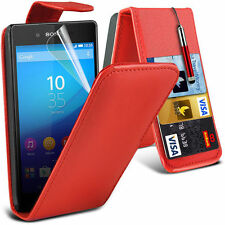 Premium Soft PU Leather Flip Case, Film & Pen For Sony Xperia Z3+
