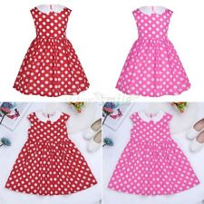 Summer Toddler Girls Bow Dress Princess Baby Polka Dots Tutu Dresses Party