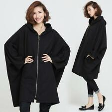 Ladies Loose Knitwear Coat Jacket Cardigan Batwing Hooded Sweatshirt Oversize