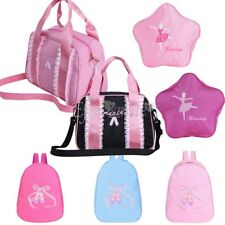 Pink Girls Backpack Dance Bag Shoulder Bag Tote Ballet Shoes Tap Quilted Dress