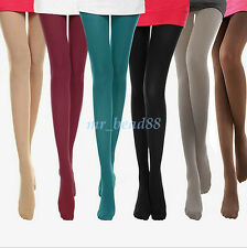 Women Ladies Thick Tights Stockings Opaque Pantyhose Footed Socks Solid Color