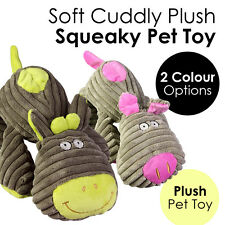 Soft Cuddly Plush Squeaky Pet Toy Cute Cow Pig Animal Cat Dog Accessories