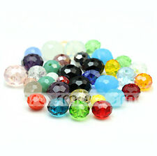 100/500pcs Mixed Color Synthetic Crystal Gemstone Round Flat Loose Beads Jewelry