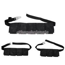 3/4/5 Pocket Pouch Scuba Diving Adjustable Webbing Weight Belt with Steel Buckle