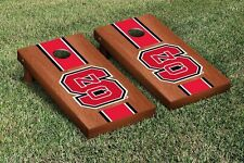 North Carolina State Wolfpack Regulation Cornhole Game Set Rosewood Stained