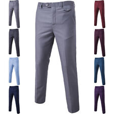 Stylish Men's Formal Business Work Pants Fit Straight Leg Skinny Trousers