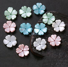 5Pcs Carved Resin Flower Bead Caps Spacer DIY Jewelry Findings 2.5x15mm 4Colors