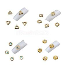 20pcs Fashion Gold Glitter Nail Art Charms Sticker Manicure DIY Decoration