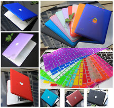 """Rubberized Hard Case Shell +Keyboard Cover for 2016 Macbook Pro 13/15"""" Air 11/13"""