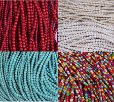 Wholesale 4/6mm Round Loose Turquoise Spacer Beads Jewelry Findings 50/100 Pcs