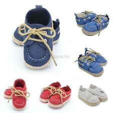 Infant Baby Boys Girls Lace Up Sneakers Toddler Soft Sole Crib Shoes Prewalkers