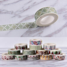 Christmas Washi Tape Paper Masking Sticky Adhesive Roll Craft Decorative New wyh