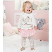 Mud Pie H7 Baby Girl Spotted Chick Tunic & Tutu Leggings Set 1112371 Choose Size