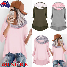 Women Casual Loose Hoodies Sweatshirt 3/4 Sleeve Tracksuit Pullover Jumper Tops