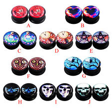 Pair Acrylic Ear Gauges - Earlet Stretching - Ear Plugs Expander Screw Tunnels