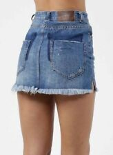One Teaspoon Jeans Skirt 25 26 27 28 29 30 31 32 Distressed Mini 2020 High W NWT