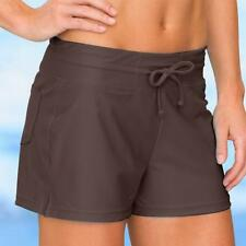 Athleta Brown Oceanside Swim Short Swimsuit Bottom 4 6 S