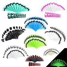 36pcs Acrylic Taper Kit Plug 14G-00G Ear Gauges Stretching Ear Jewelry-Earlet