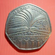 Rare & Valuable UK 50p Pence Coins Circulated : 4 Minute Mile , VC