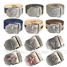 Mens Tactical Belt Automatic Metal Buckle Army Canvas Outdoor Military Style New