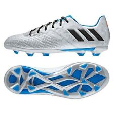 Boys adidas Messi Junior 16.3 FG Silver Moulded Studs Soccer Football Boots