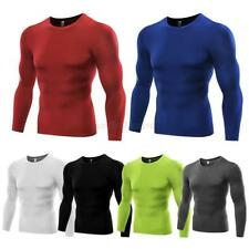 Men Compression Layer Body Under Base Sports Shirt Long Sleeve Tight T-Shirt Top