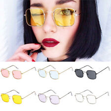 Retro Unique Square Sunglasses Metal Frame Glasses Men Women Eyewear Party