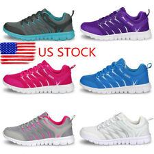 US Women Breathable Sport Sneakers Casual Lace up Trainers Lady Mesh Shoes Size