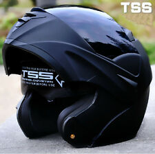 Motorcycle Dual Visor Flip up Modular Motocross Full Face Helmet DOT ( M L XL )