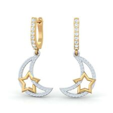 0.44ct IJ SI Natural Diamonds Womens Fashion Drop Earrings Solid Gold Certified