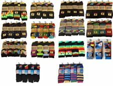 12 And 6 Pairs Of Mens Designer Socks, Cotton Rich Lycra Design Socks, Size 6-11