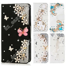Cute Stand Case Bling Rhinestone Diamond Wallet Leather Flip Cover For Phone