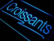 """16""""x12"""" i421-b Croissants Bakery Cafe Shop Beer Neon Sign"""