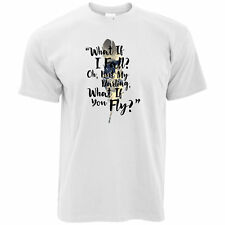 What If I Fall? But My Darling What If You Fly? Quote Poem Mens T-Shirt