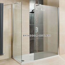 700-1000mm Walk In Shower Enclosure Wet Room Screen Panel Tempered Glass Cubicle