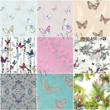 GIRLS BEDROOM BUTTERFLY WALLPAPER IN PINK, WHITE, TEAL + MORE! NEW