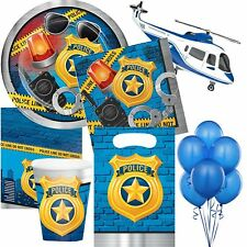 Police Birthday Party Tableware Boys Supplies Plates Napkins Tablecover