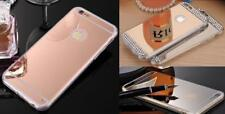 ROSE GOLD Mirror Diamond Crystal Bling Soft Gel Case Back Cover For Apple iPhone