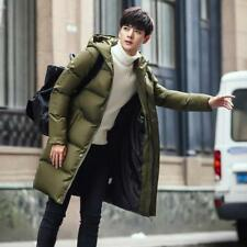 Hooded Mens Parka Down Jacket Mid Long Warm Thick Coat Hooded Winter Outwear