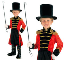 Childrens Circus Ringmaster Fancy Dress Costume Lion Tamer Outfit 3-8 Yrs