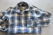 J.Crew JCrew Men blue plaid slub cotton classic fit long sleeve shirt Size XS