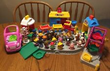 LOT OF 27 FISHER PRICE LITTLE PEOPLE/ANIMALS/FARM TRAIN/FERRIS WHEEL/PINK CAR