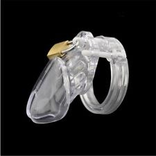 Short / Long 7*5/ 9*6.5 Male Clear Chastity Lock Device Men's With Brass Padlock