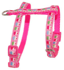 """so sweet hot pink """"cupcake"""" chihuahua teacup dog puppy harness"""