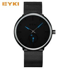 EYKI Quartz Wrist Watch Men Stainless Steel Watches Fashion Dress Men's Watch