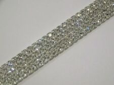 1M Rhinestone Chain Trim Diamante Crystal Silver Cake Decorations Toppers - SS12