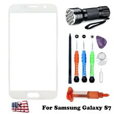 White Front Glass Screen Replacement Lens Repair Kit For Samsung Galaxy S7 G930