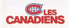 1990's - 2000's - 2010's Montreal Canadiens Official Schedule U-Pick From List